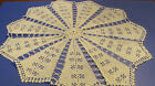 Vintage Round White Hand Crochet Lace Doily Table Topper Tablecloth 29 R56