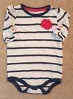 CLEARANCE CHEROKEE 3 MONTH BLUE  WHITE STRIPED BODYSUIT