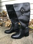 Franco Sarto Wide Calf Knee High Boot Black Lizbeth 75 7 1 2 NEW