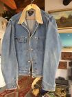 Mens RRL Vintage Jean Jacket Classic pleated shoulder design with a cord collar