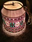 Vintage Lawnware Beaded Hanging Swag Lamp Light RV Patio Tiki Chain Camper 11