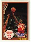 1990 DOMINIQUE WILKINS - Kenner Starting Lineup Card - Atlanta Hawks - (White)