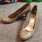 Candies Womens Size 85 Faux Patent Leather Nude Classic Pumps Heels