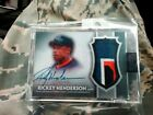 2017 TOPPS DYNASTY RICKEY HENDERSON GAME USED AUTO PATCH 5 10 N. Y. Mets AP-RE4