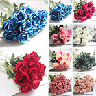 HG Artificial Fake Roses Silk Flower Wedding Home Bridal Bouquet Decor New