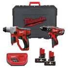 Milwaukee 12v SDS Drill and Combi Hammer Drill Kit.