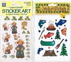 2 New Packs Scrapbook Stickers FISHING Camping FISH Canoe Frog 4 Sheets Provo