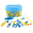 Childrens 8 Piece Simulation Medical Doctor Role Play Carry Case Blue Gifts FDVC