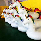 Pool Float Giant Unicorn Inflatable Water Toy Party Raft Drink Holders LOT of 36