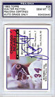 Walter Payton Autographed Signed 1983 Topps Card Bears Gem Mint 10 PSA DNA