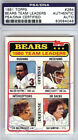 Walter Payton & Others Authentic Autographed Signed 1981 Topps Card PSA DNA