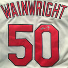 ADAM WAINWRIGHT SIGNED ST LOUIS CARDINALS JERSEY STAN MUSIAL PATCH PROOF COA J7
