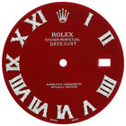 Diamond Roman Numeral Red Dial to Fit Datejust II Rolex 41mm Models 1/2 CT.