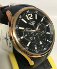 New Elysee 33003  Black Dial Chronograph Black Rubber Strap  Watch