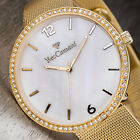 YVES CAMANI ADORIAN Womens Watch Stainless Steel Gold Plated Mother Of Pearl New