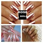 JZ Mirror Powder Chrome Effect Pigment Nails New Rose Gold Silver Nail Art Ch