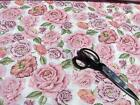 Prim Rose Pink Purple 5 oz Belgium Linen Fabric NEW By The Yard