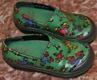 Dansko 29 clogs FROGS girls 105 waterproof material green