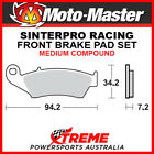 Moto-Master Aprilia RXV550 2006-2012 Racing Sintered Medium Front Brake Pad 0934