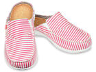 Spenco Shoes Slide Montauk Red Stripe Size 8 Womens New with Tags