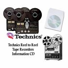 TECHNICS TAPE RECORDER RS SERIES REEL TO REEL MANUALS on CD