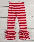 ADORABLE ESSENTIALS Pink  Red Striped Pants sz 4T