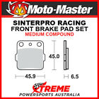 Moto-Master Suzuki TS250X 84-89 Racing Sintered Medium Front Brake Pads 091011