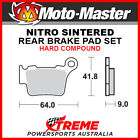 Moto-Master Husqvarna TC450 2004-2010 Nitro Sintered Hard Rear Brake Pad 094421
