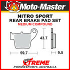 Moto-Master Husqvarna TE450 2004-2010 Nitro Sport Sintered Medium Rear Brake Pad