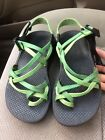Womens Chaco ZX 2 Yampa green ankle strap hiking  water sandals size 6 VGUC