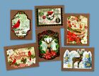 CLASSIC RETRO STYLE DIE CUT CHRISTMAS MINI NOTE CARDS by PUNCH STUDIO 6
