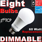 60W DIMMABLE LED Soft White 60 Watt Equivalent Light Bulbs 2700K A19 By TCP