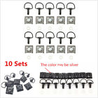 10Sets 1/4 Turn Fasteners Motorcycle Fairing Clip-on Quick Release Fasteners Kit