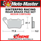 Moto-Master Husqvarna WRE125 1995 Racing Sintered Medium Rear Brake Pads 093211