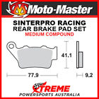 Moto-Master KTM 400 EGS 1996-1997 Racing Sintered Medium Rear Brake Pads 093211