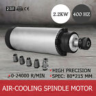 2.2KW ER20 Air Cooled Spindle Motor 24000RPM Engraver Precise Grease Lubrication
