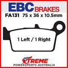 EBC Gas-Gas MC125 MX Ohlins 2003-2005 Sintered Copper Rear Brake Pads FA131R