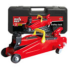 Torin Big Red T82012 2 Ton Hydraulic Swivel Trolley Floor Jack with Carry Case