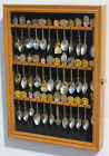 36 Spoon Display Case Rack Wall Cabinet Shadow Box, Glass Door, SP01-OA