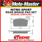 Moto-Master TM Racing EN 300 2005-2016 Nitro Sport Sintered Medium Rear Brake Pa