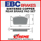 EBC TM Racing MX 250 2005-2016 Sintered Copper Rear Brake Pad FA367R