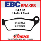 EBC TM Racing MX 250FI 2013-2016 Organic Carbon Front Brake Pads