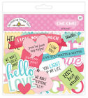 Scrapbooking Crafts Doodlebug Chit Chat So Punny Captions Phrases Love Hot Stuff