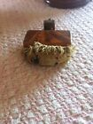 vintage antique sewing pin cushion screw clamp