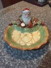 FITZ & FLOYD CHINA CLASSICS CHRISTMAS SANTA SERVING TRAY GREGORIAN HUGE!