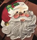 """FITZ & FLOYD Christmas Santa Canape Collectors Cookie Plate 9.5""""x 8"""""""