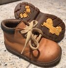 Stride Rite Toddler Boys 7 WIDE Tan Brown Leather Lace Up Ankle Work Boot Truck