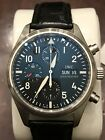 IWC Pilots Watch Chrono Auto 42mm Steel Mens Strap Watch Day Date IW371701