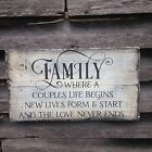 Hand made Family Primitive Rustic Country Home Decor