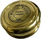 Camping & Hiking Kelvin Brass Polish Vintage Marine Décor Pocket Compass SC 051